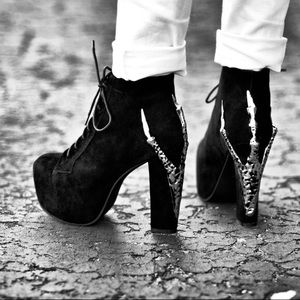 Jeffrey Campbell Lita Claw Chunky Heel Boots